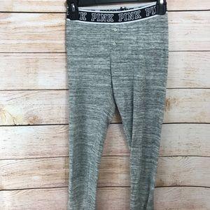 Pink Victoria Secret Thermal Gray Pants XS